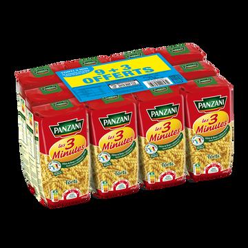 Panzani Torti Cuisson Rapide Panzani, 9x500g + 3 Offerts