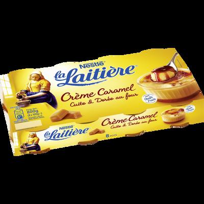 Dessert lacté aux oeufs frais crème caramel LA LAITIERE 8x100g