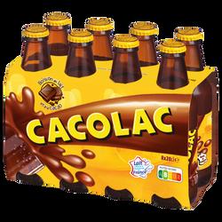 Boisson chocolatée nature CACOLAC, 8 bouteilles de 20cl