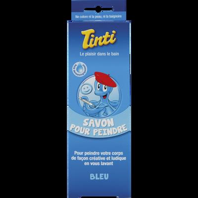 Savon pour peindre le corps couleur bleu TINTI, flacon de 70ml
