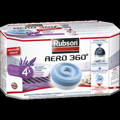 Recharges RUBSON, aero 360°? lavande, 4 unités