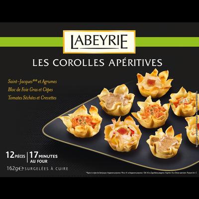 Assortiment de corolles apéritives à cuire LABEYRIE, x12 soit 162g