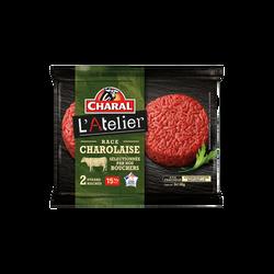 Steak haché Charolais, 12% MAT.GR., CHARAL, France, 2 pièces, 260g