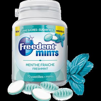 Chewing gum menthe fraîche FREEDENT, boîte de 77g