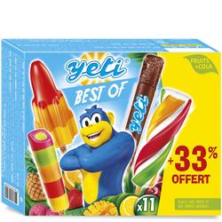 Bâtonnets sorbet yéti best of YETIGEL, x8 +33% offert, 492G