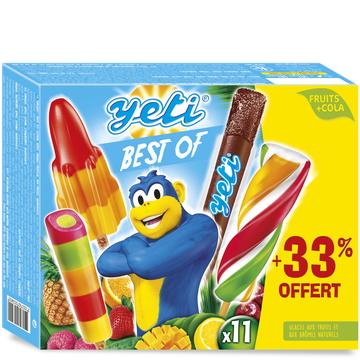 Yetigel Bâtonnets Sorbet Yéti Best Of Yetigel, X8 +33% Offert, 492g
