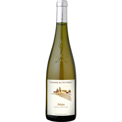 """Vin blanc AOC Anjou """"Domaine des trottieres"""", bouteille de 75cl"""