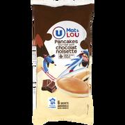 Lou Pancakes Fourrage Goût Chocolat Noisette Mat & Lou U, X6, 270g