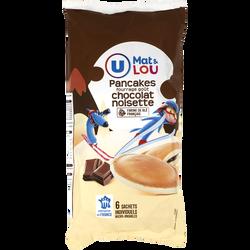 Pancakes fourrage goût chocolat noisette mat & lou U, x6, 270g