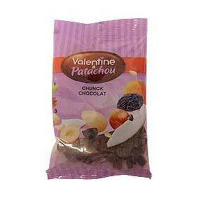 Chunk de chocolat VALENTINE & PATACHOU, sachet de 100g