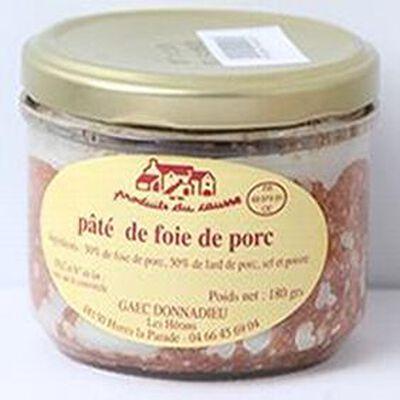 Pâté de foie de porc, Produits du causse, 180g
