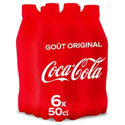 COCA COLA PET 6x50CL