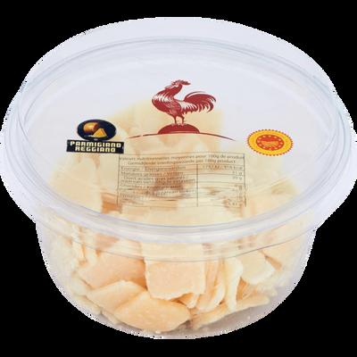 Parmigiano Reggiano DOP au lait cru, 28% de MG, copeaux de 100g