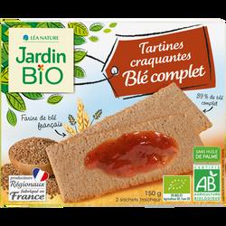 Tartines craquantes au blé/serge/orge bio JARDIN BIO 150g