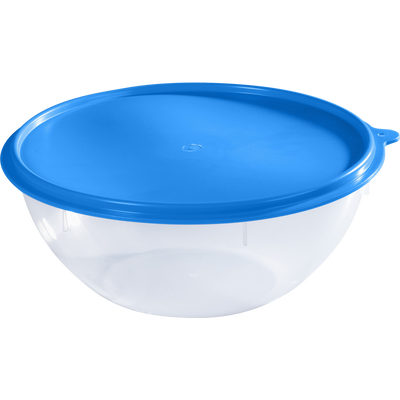Saladier hermétique en polypropylène, transparent, 5,5 litres
