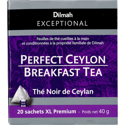 Thé noir de Ceylan breakfast tea DILMAH, sachet de 40g