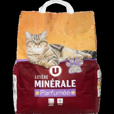 Litière chat parfumée avec bactéricide U, sac de 10l