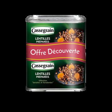 Cassegrain Lentille Cuisinées Oignons Et Carottes Cassegrain, 2 Boîtes De 265g