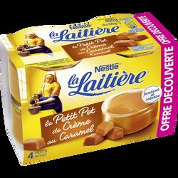 Dessert lacté aux oeufs frais caramel LA LAITIERE, 4x100g