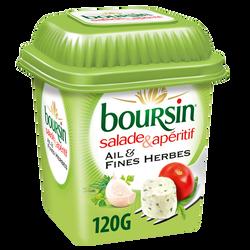 Fromage pasteurisé ail et fines herbes pour salade & apéritif 40% de matière grasse BOURSIN, 120g