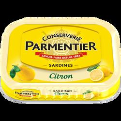 Sardine à l'huile de tournesol et au citron PARMENTIER, boîte de 135g