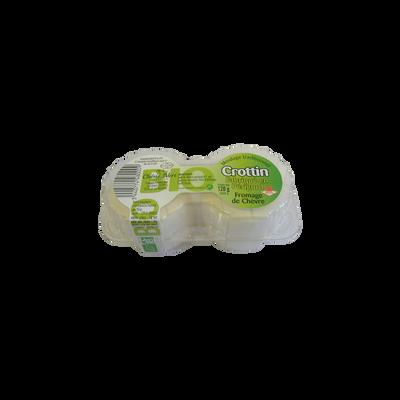 Crottins de chevre pasteurise affines 26%mg U bio 2x60g