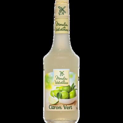 Sirop de citron vert MOULIN DE VALDONNE, bouteille en verre de 70cl