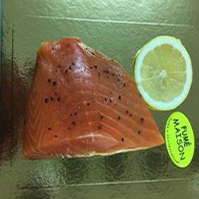pavé de saumon fumé avec peau, fumaison maison , saumon élevé en Ecosse
