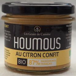 Houmous au citron confit, BIO, LES SAVEURS DE CHARLOTTE, pot 110g