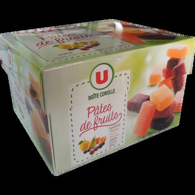Pâtes de fruits U, boîte corolle de 300g