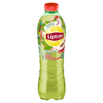 Lipton Boisson Lipton Green Ice Tea Goût Pêche Blanche - Bouteille 1l