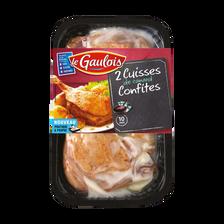 Cuisse de canard confite, LE GAULOIS, 2 pièces 550 g