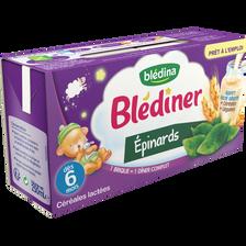 BLEDINER lait aux légumes épinards, dès 6 mois, 2x250ml