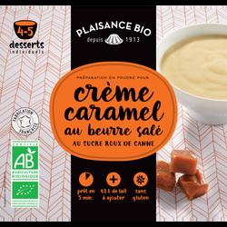 Préparation pour crèmes gourmandes caramel au beurre salé PLAISANCE BIO, 40g