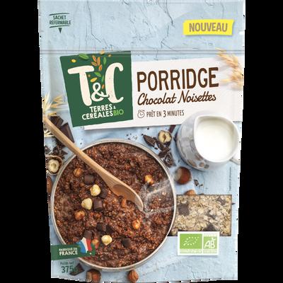 Porridge chocolat noisettes TERRES ET CEREALES, 375 g
