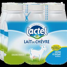 Lait de chèvre UHT 1/2 écrémé stérilisé LACTEL, bouteille 6x50cl