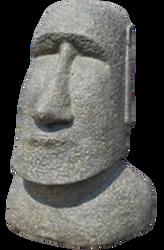 Moai en ciment et pierre resonstitué 60cm