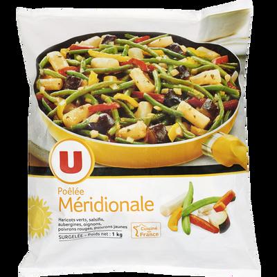 Poêlée méridionale au mélange de légumes U, sachet de 1kg