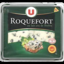 Fromage au lait cru de brebis AOP Roquefort U, 32% de MG, tranche de 100g