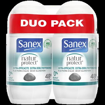 Sanex Déodorant Natur Protect Extra Efficacité Sanex Bille 2x50ml