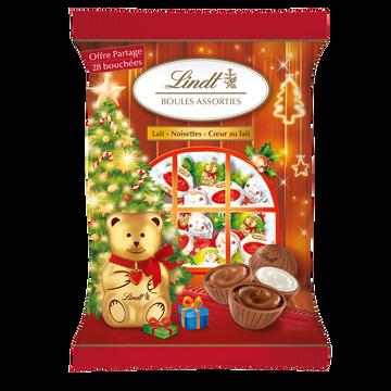Lindt Bouchées De Chocolats Boules Assorties Enfants  145g
