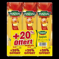 Spaghetti PANZANI, 3x500g + 20% offert