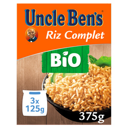 Riz complet bio 40 minutes, UNCLE BEN'S, vrac 375g