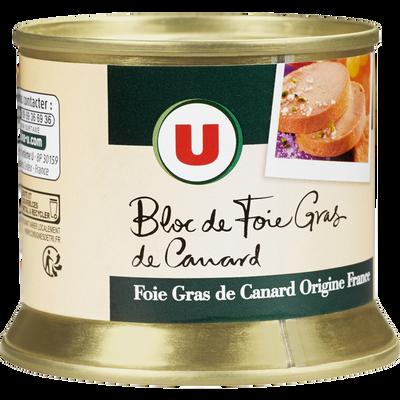 Bloc de foie gras canard U, boîte de 150g