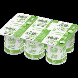 Le Petit Suisse au lait pasteurisé CAMPAGNE DE FRANCE, 9,5% de MG, 6x60g