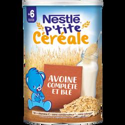 P'tite Céréale à l'avoine complète et au blé NESTLÉ, dès 6 mois, boitede 400g
