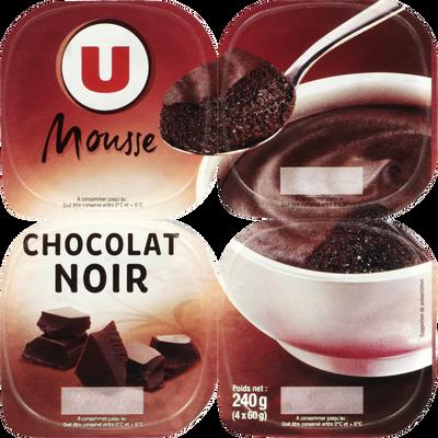 Mousse au chocolat noir U, 4x60g
