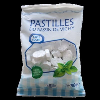 Pastilles du bassin de Vichy menthe sans sucre, sachet 200g