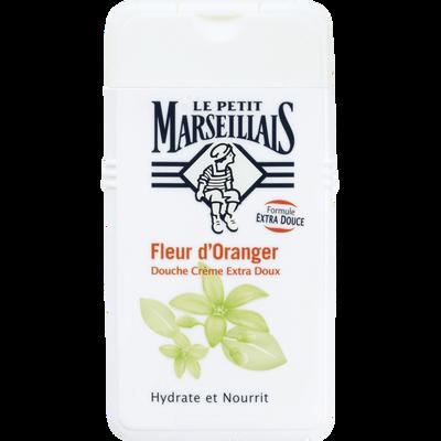 Gel douche extra doux parfum fleur d'oranger LE PETIT MARSEILLAIS, flacon de 250ml