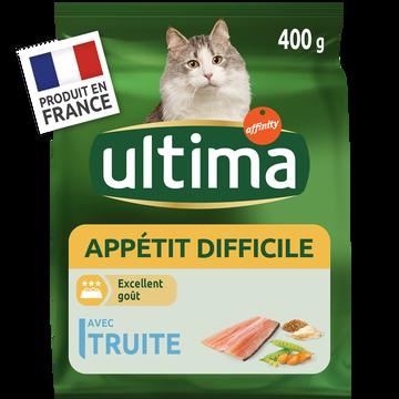 Ultima Croquettes Pour Chat À L'appétit Difficile Ultima, 400g